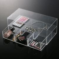 Household Light Double Clear Acrylic Makeup Organizer For Storage Manufactures
