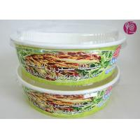 26 Ounce Logo Printed Paper Salad Bowls For Grill , Disposable Paper Food Containers Manufactures