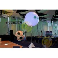 2.5m White Attractive Round Inflatable Helium Balloon with RGB LED Lighting Manufactures