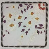 Embroidery cushion cover with flower design. Manufactures