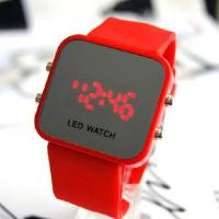 LED watches 12colors Unisex Digital mirror display Silicone strap LJX09 Manufactures