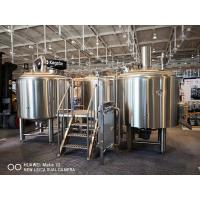 10BBL Brewhouse Large Scale Brewing Equipment Semi Auto Control Panel Manufactures