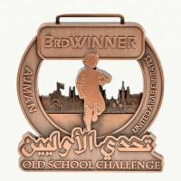 Tailored Custom Sports Medals Commemorative Copper Plating Silver / Bronze / Gold Finish Manufactures