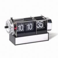 China Table Flip Clock with Alarm, Measuring 18 x 6 x 9cm on sale