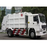 Single Sleeper Compression Garbage Truck 5.5m³ Body Volumes 6 Tires Manufactures