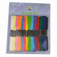 Cotton Embroidery Threads Sewing Kit, Made of 100% cotton Manufactures