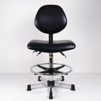 Anti Static And Synthetic Leather Ergonomic Stool For High Work Bench Lab And Cleanroom Manufactures