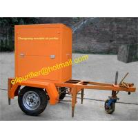 Single stage Vacuum Transformer Oil Purifier with mobile trailer,cable oil treatment plant,mobile oil filtration machine Manufactures