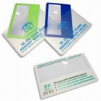 Credit Card Size Magnifiers, Made of PVC Material, Lightweight and Easy to Carry Manufactures
