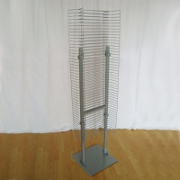 """Universal 1"""" Space Metal Floor Display Stands With Single Or Double Sides Manufactures"""