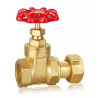Forged Brass Gate Valve DN32 DN40 CW617 Water Control Valve With Thread WRAS Manufactures