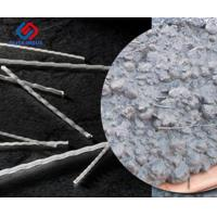 China 480Mpa 48mm 54mm Curved / Wave PP Macro Synthetic Fibers For Concrete Reinforcement on sale