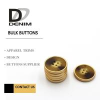 Quality Polyester Bulk Clothing Buttons 4 Holes Colorful Assembed Combination Button for sale