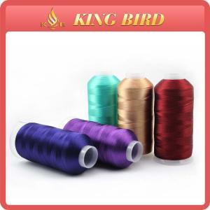 China 4000m Machine Embroidery Threads 120D / 2 / viscose filament yarn on sale