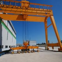 CE / GOST Single Girder Semi Gantry Crane Outdoor Mobile Rail Mounted Manufactures