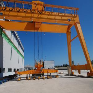 CE / GOST Single Girder Semi Gantry Crane Outdoor Mobile Rail Mounted