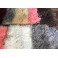 110cm * 55cm Sheepskin Accent Rug Plate For Home Throw / Making Garment Manufactures