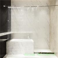 A004 clear waterproof 10 guage peva shower curtain with grommet magnet Manufactures