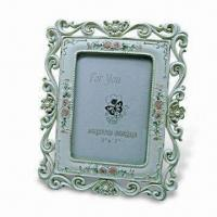 Polyresin Photo Frame, Measures 5 x 7 Inches, Meets EN71 and Cpsia Standard Manufactures