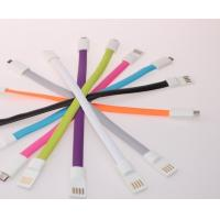 Colorful Magnet Flat USB Cellphone Data Cable for iPhone Android phone Manufactures