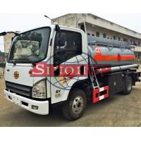 3 - 5cbm Refuel Oil Tanker Truck FAW TIGER V Chassis Series 7 Tons GVW Manufactures