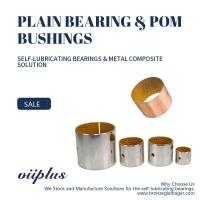 Metal Polymer Bearings Solution With Hole Slit Bushing In Accordance With RoHS Manufactures