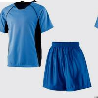 Bright Blue Sublimated Mesh Soccer Team Clothing College Football Jerseys Manufactures
