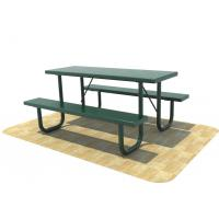 Quality Abrasion Resistance 3 Seater Metal Garden Bench Steel TUV Certificate for sale