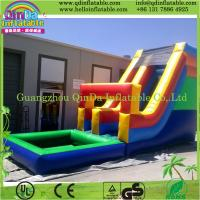 Giant inflatable water slide for sale, wave water slide Manufactures