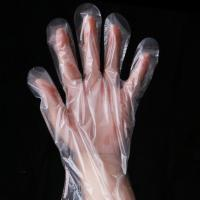 China Restaurant Disposable HDPE Food Contact Gloves , Plastic Hand Gloves Powder Free on sale