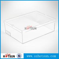 Quality Hot sale clear transparent sport shoes sneaker acrylic display boxes for sale