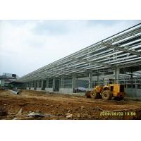 Durable Steel Structure Warehouse Portal Structure Frame With Long Overhang Manufactures