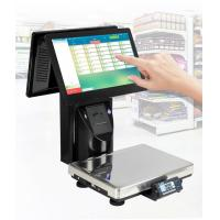 China Dual Touch Screen Price Computing Label Printing Scale For Retail Store on sale