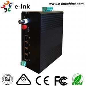 Video Ethernet Industrial Fiber Media Converter 4 10 / 100M Ethernet 1 Video 1RS485 Data Manufactures