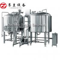 High Performance Beer Brewing Machine , 0.15 - 0.3Mpa Beer Manufacturing Plant Manufactures