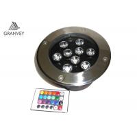 9W Pathway Driveway Garden IP67 LED Underground Light RGB With Remote Controller Manufactures