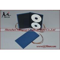 China Double Cotton Fabric Linen DVD CD Case on sale