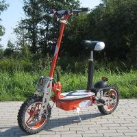 1000w Foldable Electric Scooter With Big Wheel Rim , Front And Rear Disc Brake Manufactures
