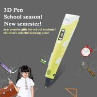 Kid amazing gifts safety material drawing pen pla 3d pen 1.75mm filament Manufactures