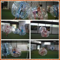 China 1.5m Clear pvc Inflatable Sports Games Soccer Ball Custom on sale