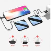 China 2019 Thin Slim Power Bank 20000mah portable charger external Battery 20000 mah mobile phone charger on sale