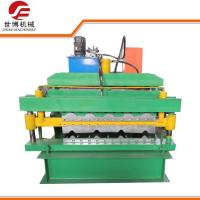 Roofing Tile And IBR Double Deck Color Coated Steel Sheet Roll Forming Equipment Manufactures