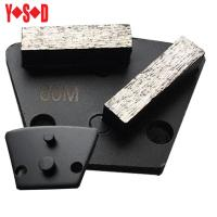 Two Pin Backed Trapezoid diamond grinding shoes Manufactures