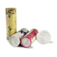 Gold stamping Paper Tube Packaging For Powder / Spice With Sieve Cover