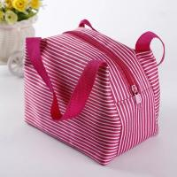 China Eco Friendly Pink Insulated Cooler Bags With Canvas Fabric Material Wash In Water on sale