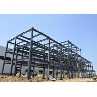 Q235 Q345B Light Steel Structure Building With Metal Sheet Wall Long Life Span Manufactures