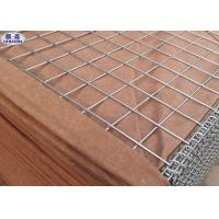 Brown Hesco Defensive Barriers , Galvanized Gabion Box Effective Protection
