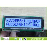 China 16x2 STN Character LCD Display Module , Digital LCD Display COB Type STN Blue Positive on sale