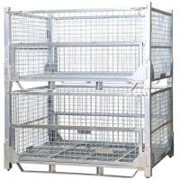 China Transport Industry Steel Mesh Storage Cages Galvanized Surface Finished on sale