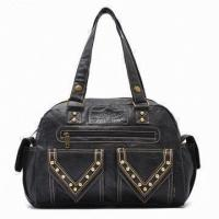 China Synthetic Leather Lady Cross-Body Bags With Polyester Inner , Black / Brown Handbags on sale